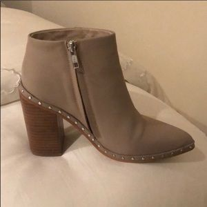 Sol Sana Pointed Toe Bootie in Tan